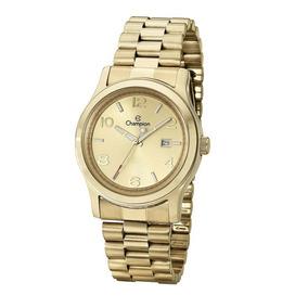 Relógio Top Champion Dourado Feminino Ch24428w Original