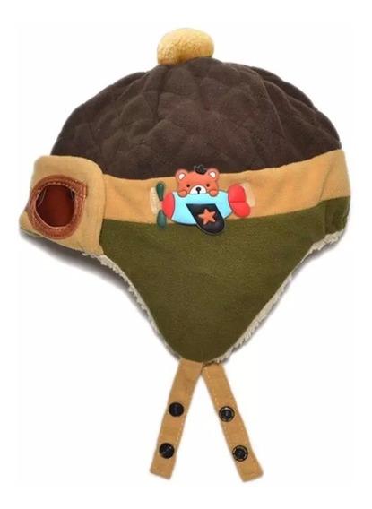 Touca Gorro Aviador Bebe Alta Qualidade Toquinha Infantil