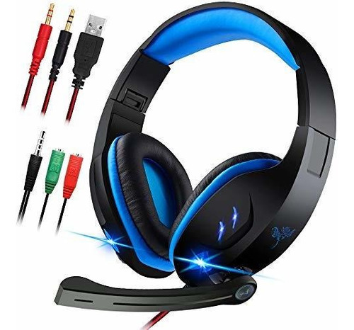 Diadema Gamer Con Microfono Para Pc, Ps4, Xbox One.maxin Aur