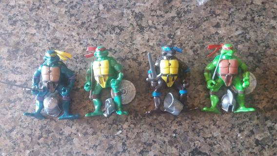 Kit Com 4 Bonecos Tartaruga Ninja C/luzes -completo - Lote 5