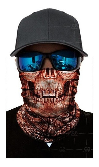 Bandana Buff Mascara 3d Ciclismo Moto Skull Uv Protector