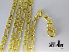 Corrente Masculina Diamantada Grossa Banhada Ouro