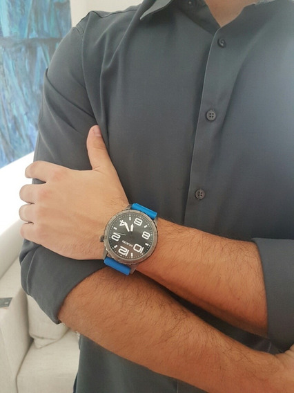 Relógio Masculino Unlisted Pulseira Azul - Frete Grátis