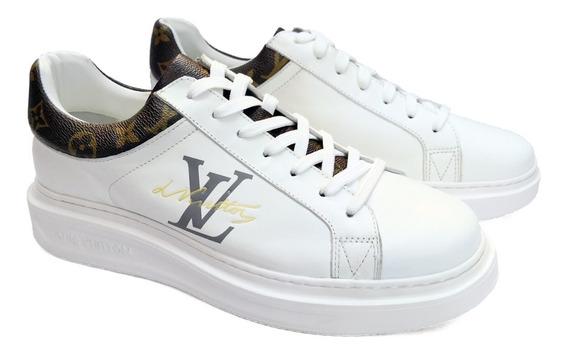 Tenis Louis Vuitton Blancos Meses S/i Y Envio Gratis