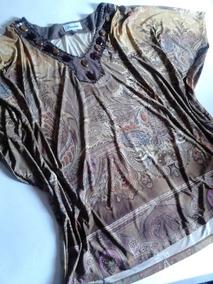 Blusa Em Malha Estampada Plus Size 50