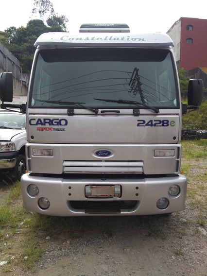Ford Cargo 2428-e Ano 2009 Cabine Leito Baixa Kilometragem