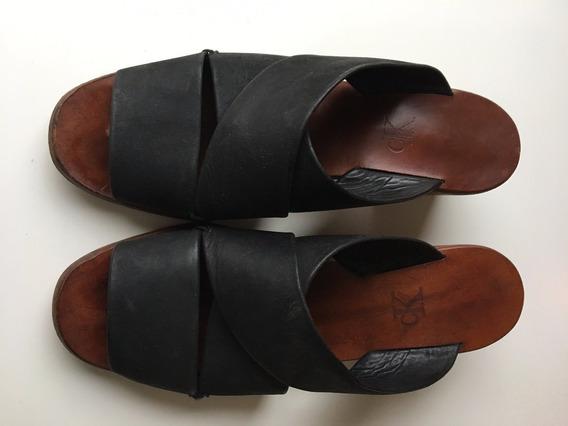 Sandalias Cuero Legítimo Calvin Klein Originales