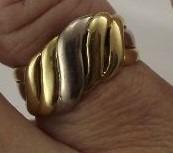 Lindo Anel De Ouro Turco Da Fidelidade 5,50gamas Aro 15
