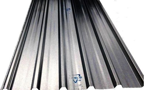 Imagen 1 de 3 de Chapas Trapezoidales Para Techo Aluminizada Armco Calibre 26
