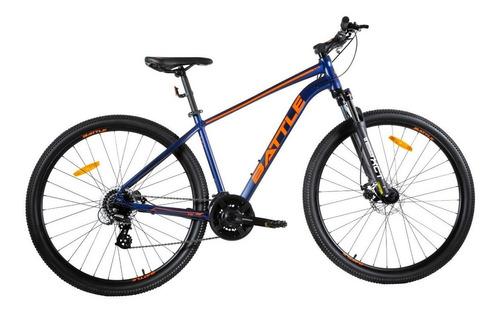 "Imagen 1 de 4 de Mountain bike Battle 240 R29 20"" 24v frenos de disco mecánico cambio Shimano Altus color violeta/naranja"