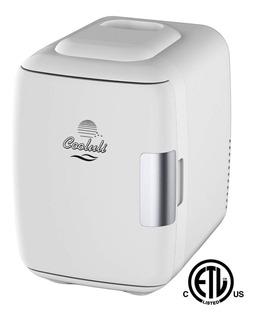 Mini Refri Portatil Enfría-calienta Con Cargador Auto Blanco