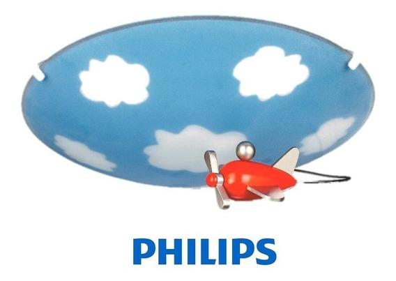 Plafon Infantil Sky Sobrepor Redondo Bivolt E27 Philips