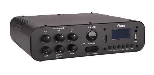 Amplificador Compacto De Potência Sa20 Nca 100w Rms