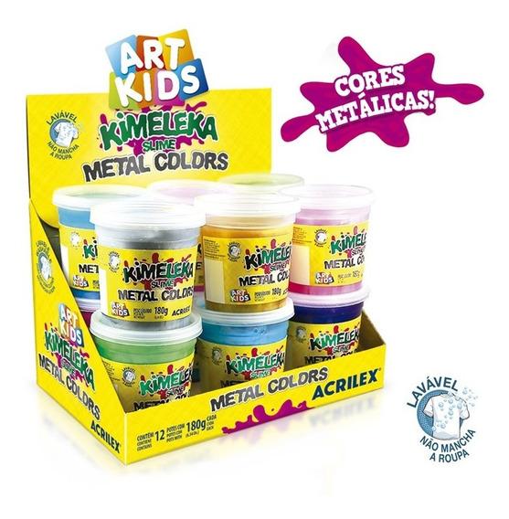 Slime Geleinha Potinho Massinha Kimeleka Acrilex 180g
