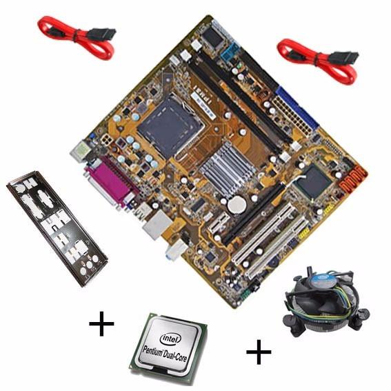 Kit Placa Mae Asus Pcware Ipm31 775 Ddr2 G31 + Dual Core
