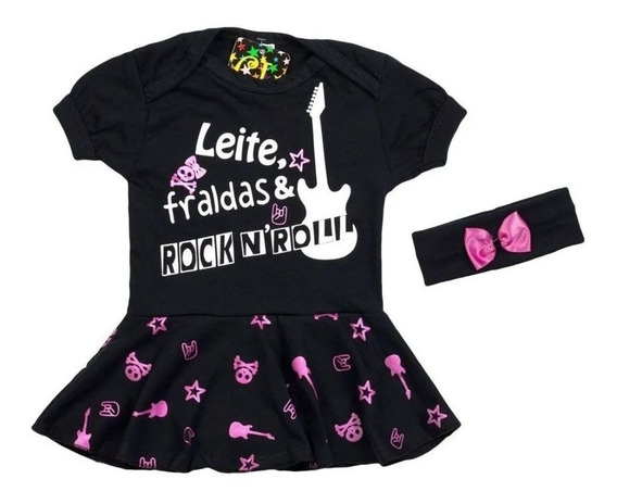 Body Infantil Vestido Rock Bcr01