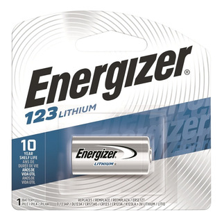 Pila Cr 123 De Litio 3v Energizer- Lithum