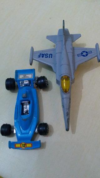 Miniatura 2 Unidades Um Avião Um Carro Corrida