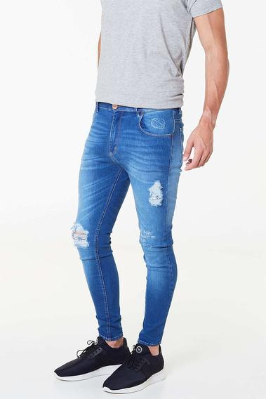 Jean Skinny Truba Azul Medio