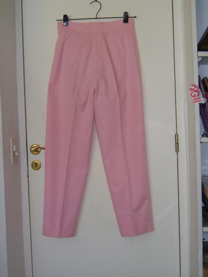 Pantalones Courregs Rosa Forrados Talle 40 Cierre
