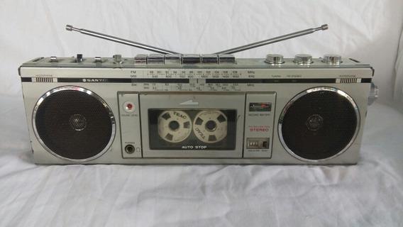 Radio Gravador Sanyo M7700k Made In Japan Funcionando...leia