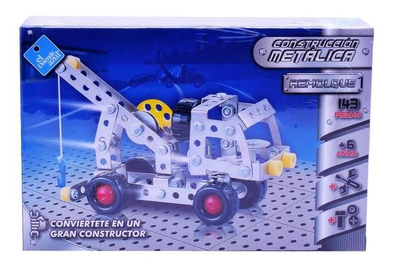 Juego De Construcción Metálica Remolque 143 Pzas Tipo Mecano