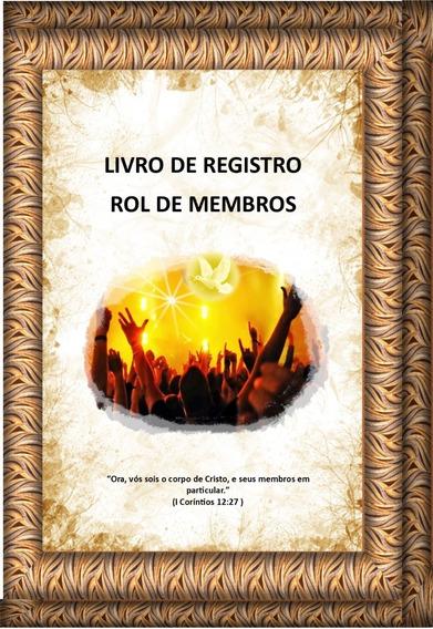 Livro Para Registro De Membros Para Igrejas