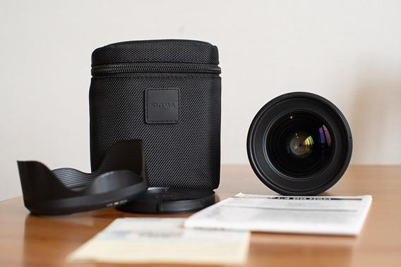 Lente Sigma Art 24mm F/1.4 Pouco Usada Para Canon