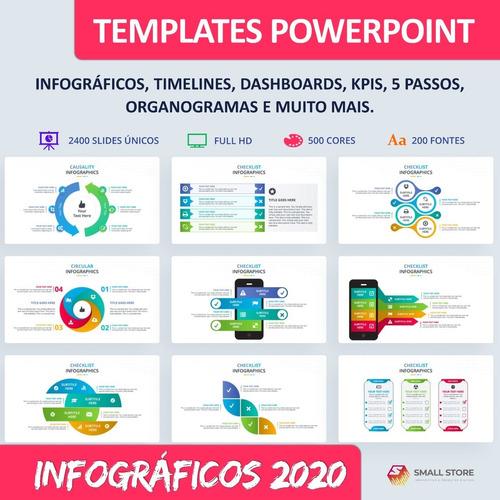 Imagem 1 de 10 de Templates Powerpoint Infográficos 2200 Slides Atualizados
