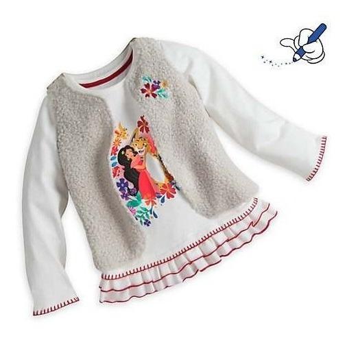 Conjunto Chaleco Y Remera Elena De Avalor Disney Store 7 Años Nuevo C/ Etiqueta