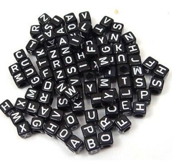 200 Letras Letritas Tipo Pastillas Dijes Pulseras Nena