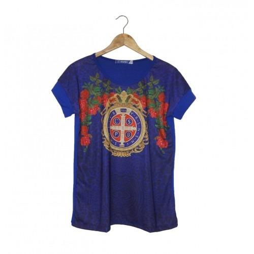 Camiseta/ Bata São Bento Azul