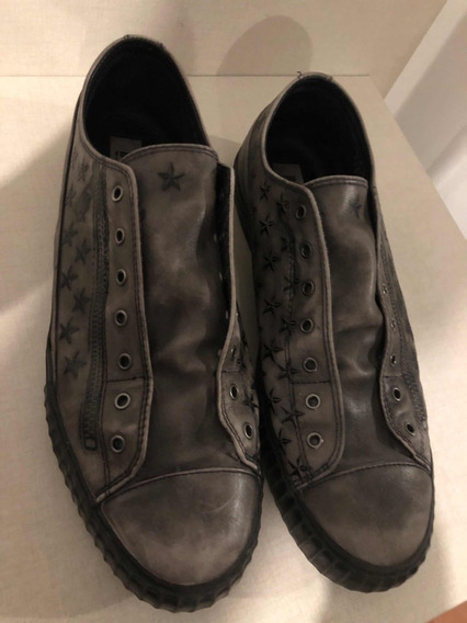 John Varvatos Zapatos Shoeless Talle 12 Us Hombre Cuero