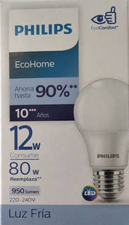 Lampara Bulbo Led 12w Marca Philips Rosca E27 De 900 Lumen