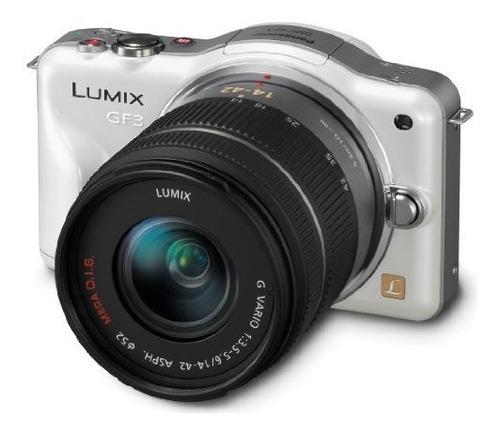 Panasonic Lumix Dmcgf3kw 12 Mp Micro 43 Camara De Sistema C