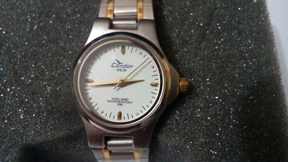 Relógio Condor New Feminino Com Filetes Dourados + Brinde
