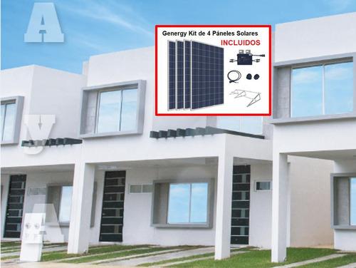 Imagen 1 de 29 de Casa En Venta Incluye 4 Paneles Solares, 3 Recamaras, 2 Niveles, Av. Petempich, Playa Del Carmen