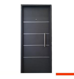 Puertas Entrada Frente Inyectada De Chapa Moderna 0.80x 2.00