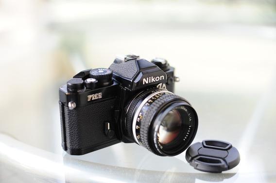 Nikon Fm2 Com Lente 50mm 1.4
