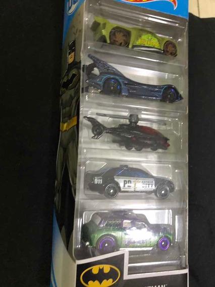 Hotwheels Set Autos Batman Colección X 5