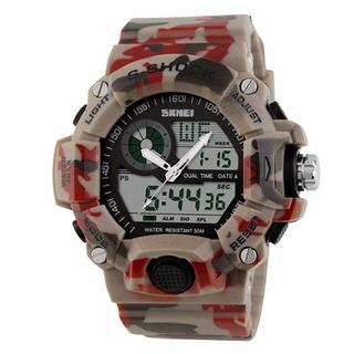 Reloj Hombre Skmei 1029 Camuflado Militar Crono Alarma Luz