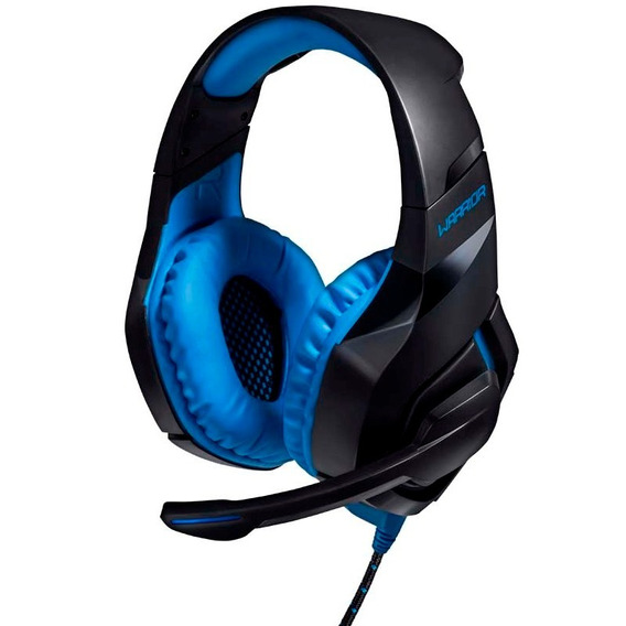 Headphone Usb Para Ps4 Pc Warrior 244 Azul Com Microfone