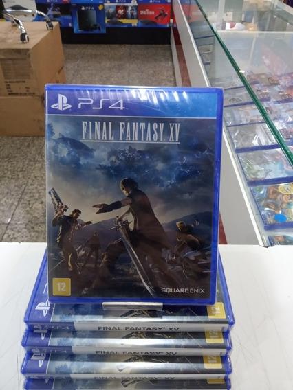 Jogo Playstation 4 Final Fantasy Xv - Ps4 Mídia Física Novo Lacrado Português