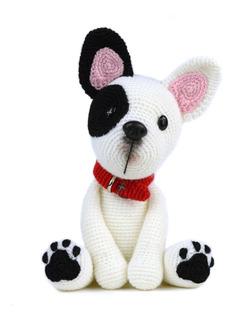 Bulldog A Crochet - Nariz De Azúcar Amigurumis