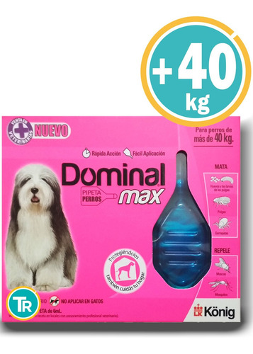 * Pipeta Dominal Max Perro + 40 Kg *