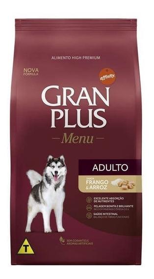 Ração Gran Plus Menu Carne E Arroz Cães 15kg