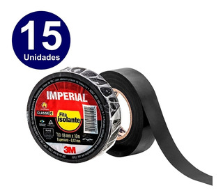 15 Unidades - Fita Isolante 3m Imperial 20 Metros X 18mm