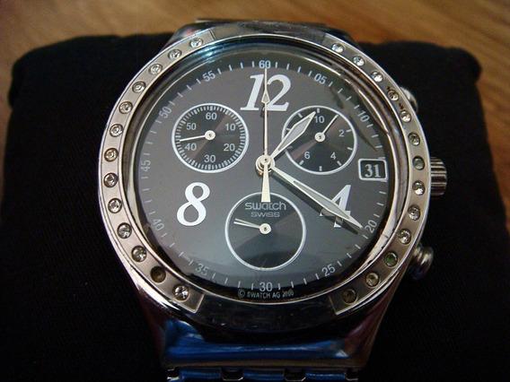 Reloj Swatch Cerámica Ycs485gc Chrono Swiss Made