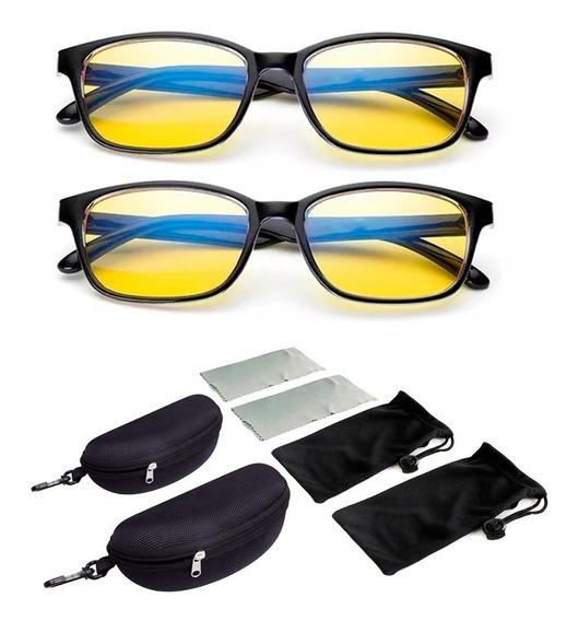 2 Óculos Bloqueador Luz Azul Blue Ray Blocker Lair Ribeiro