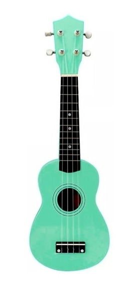 Ukelele Soprano Midiplus De Madera Con Funda Color Verde